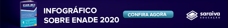 Banner de divulgação do infográfico gratuito sobre o que mudou no Enade 2020. Link para download: https://materiais.saraivaeducacao.com.br/lp-infografico-enade2020?utm_source=blog&utm_medium=banner-artigo&utm_campaign=material-rico