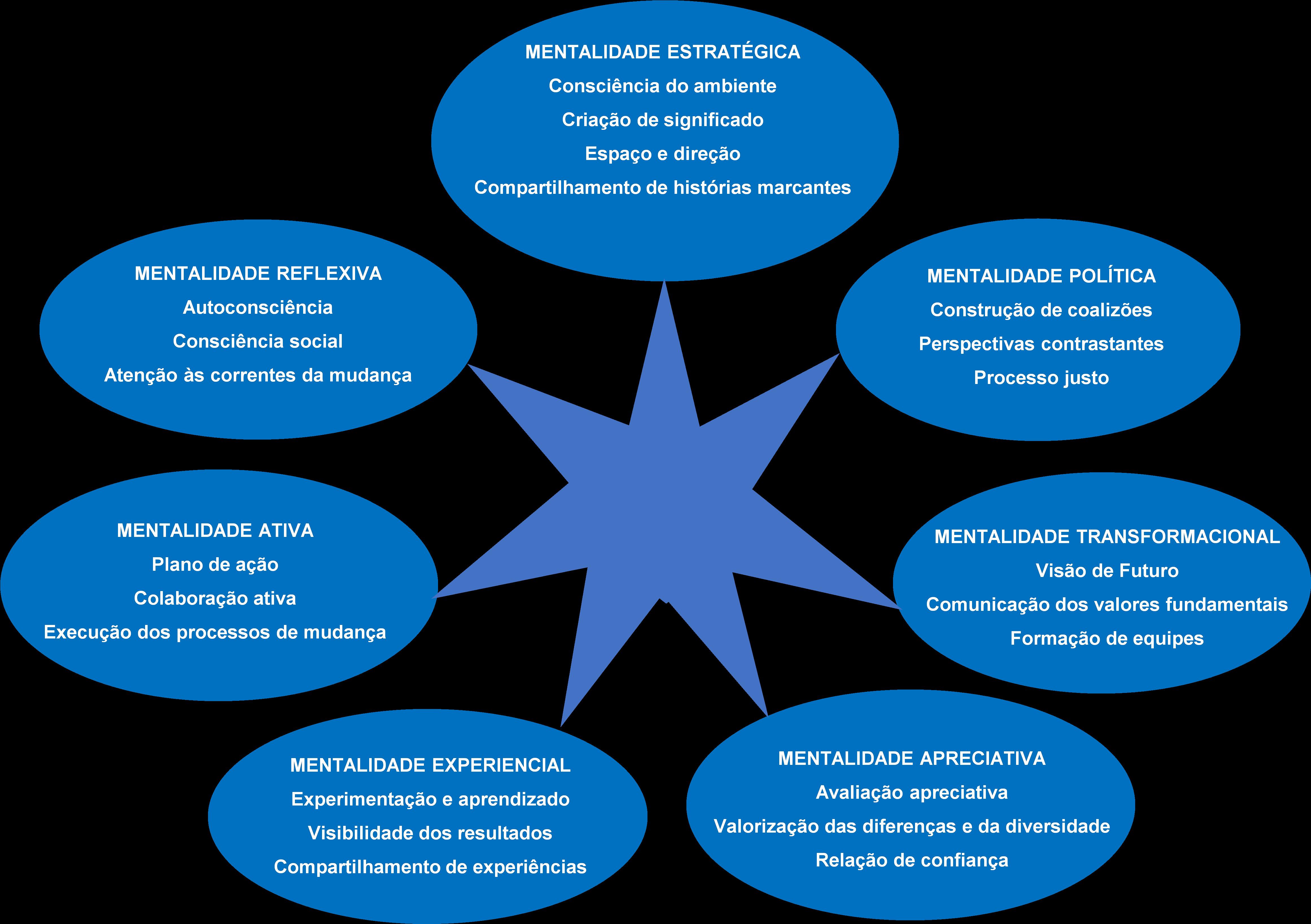 Imagem mostrando o Septagrama dos Líderes Inovadores (fonte Brillo e Boonstra, 2018)