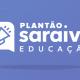 Imagem com fundo azul e logo do Plantão Saraiva Educação.