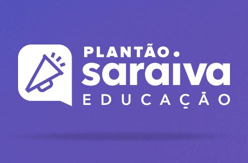 Imagem da logo do Plantão Saraiva Educação e a escrita: #14.