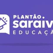 Imagem da logo do Plantão Saraiva Educação e a escrita: #18.